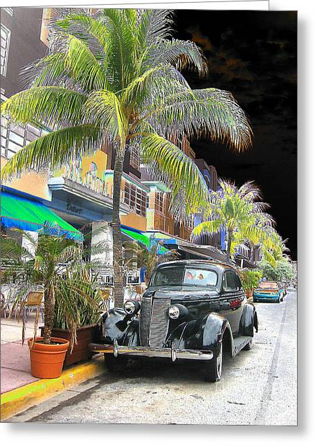 South Beach Surreal 2 Greeting Card by Judee Stalmack
