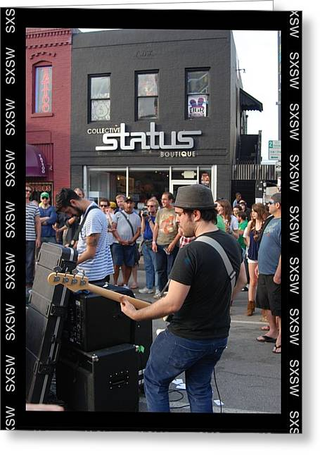 South By Southwest In Austin Greeting Card by Jennifer Holcombe