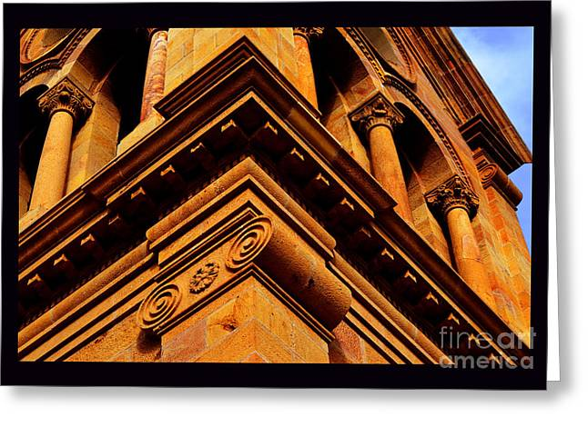 South Corner Of St. Francis Cathedral Greeting Card by Susanne Still