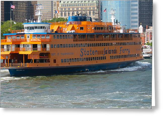 South Ferry Water Ride1 Greeting Card by Terry Wallace