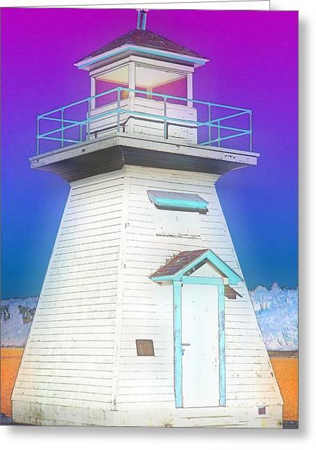 South Hamton Lighthouse 3 Greeting Card by Cyryn Fyrcyd