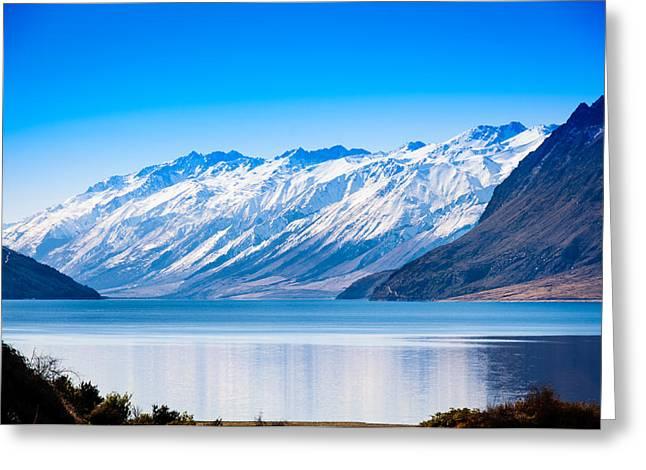 South Island Lake Wanaka New Zealand Greeting Card by John White