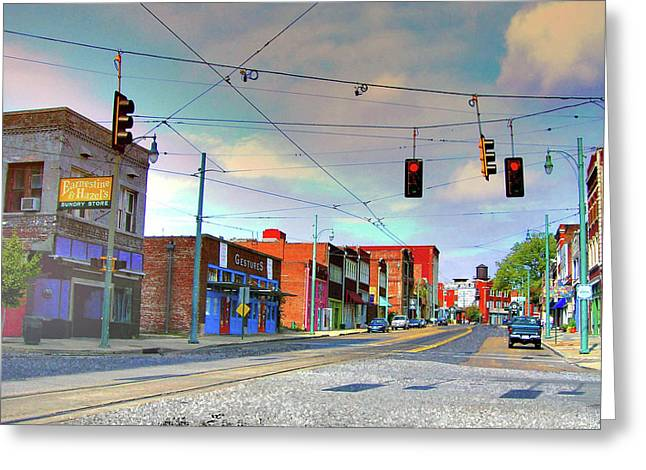 Greeting Card featuring the photograph South Main Street Memphis by Lizi Beard-Ward