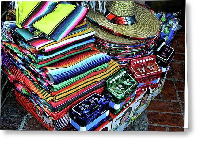 South Of The Border Greeting Card by Helaine Cummins