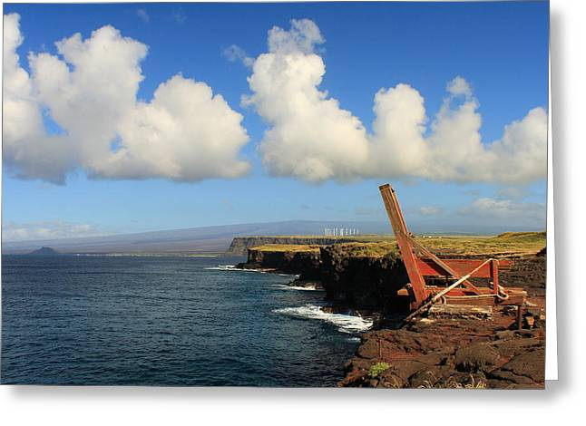 Greeting Card featuring the photograph South Point Hawaii Boat Hoist by Scott Rackers