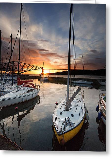 South Queensferry Harbour Greeting Card by Keith Thorburn LRPS AFIAP CPAGB