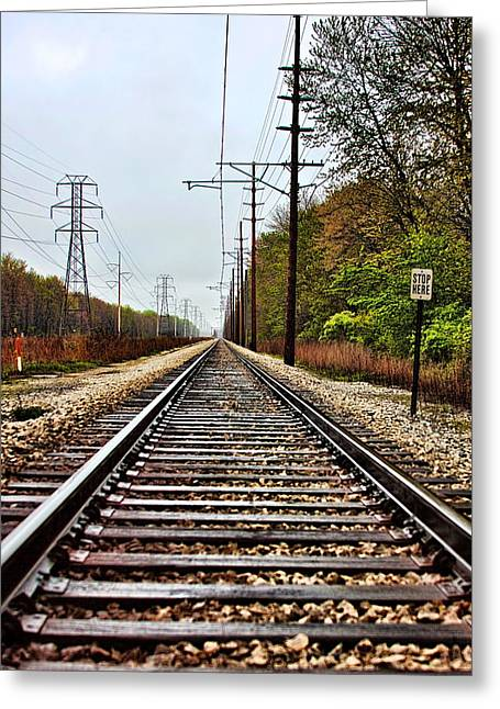 Greeting Card featuring the photograph South Shore Line by Joe Urbz