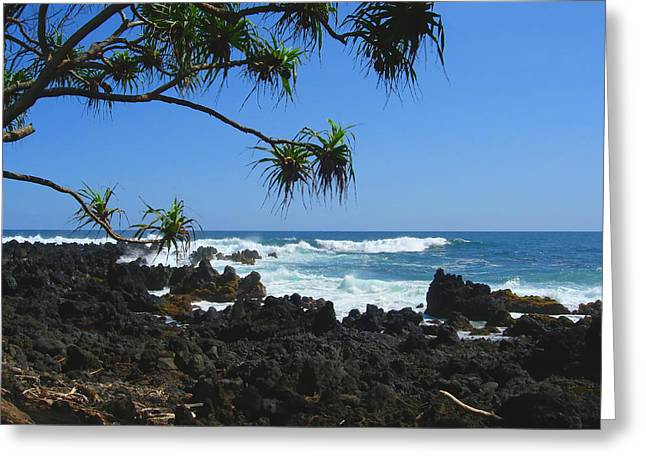 South Shore Of Maui Greeting Card by Connie Fox