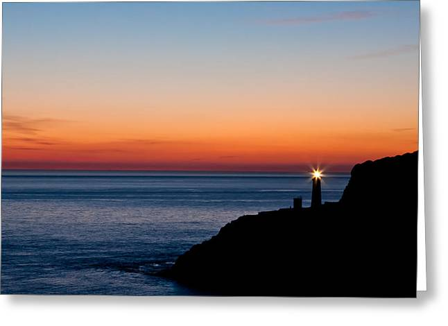 South Stack Lighthouse Greeting Card by Gary Finnigan