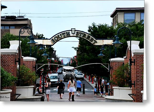 South Street - Philadelphia Greeting Card by Bill Cannon
