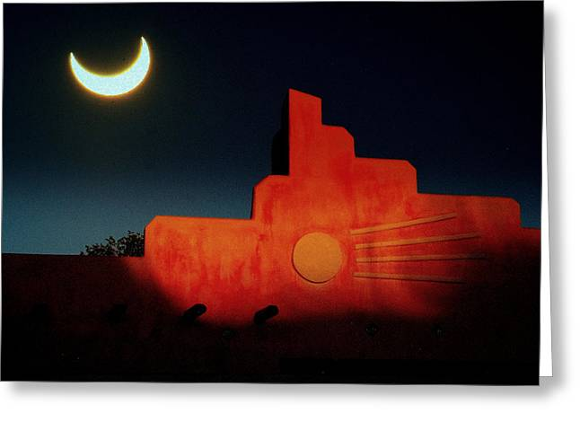 South West Eclipse.. Greeting Card by Al  Swasey