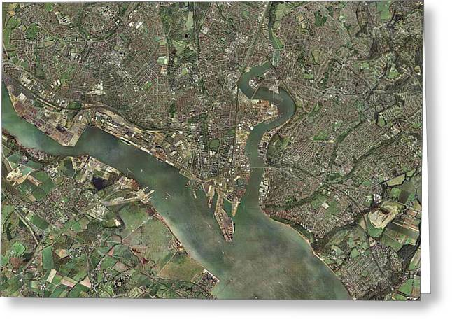 Southampton, Uk, Aerial Photograph Greeting Card by Getmapping Plc
