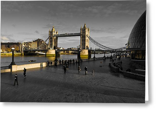 Southbank London  Greeting Card by David Pyatt