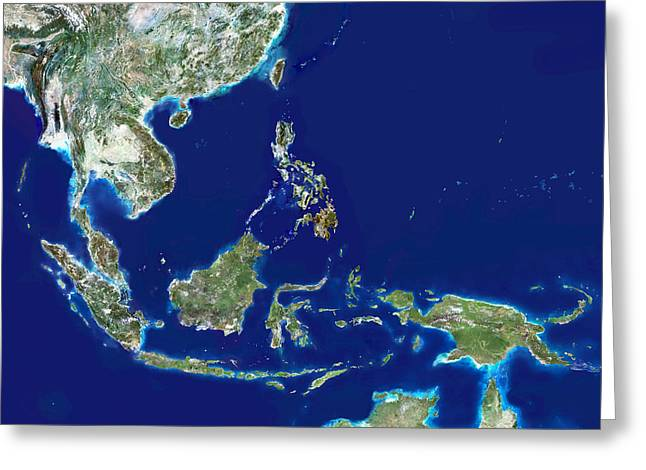 Southeast Asia Satellite Image Photograph By Planetobserver - Asia satellite map
