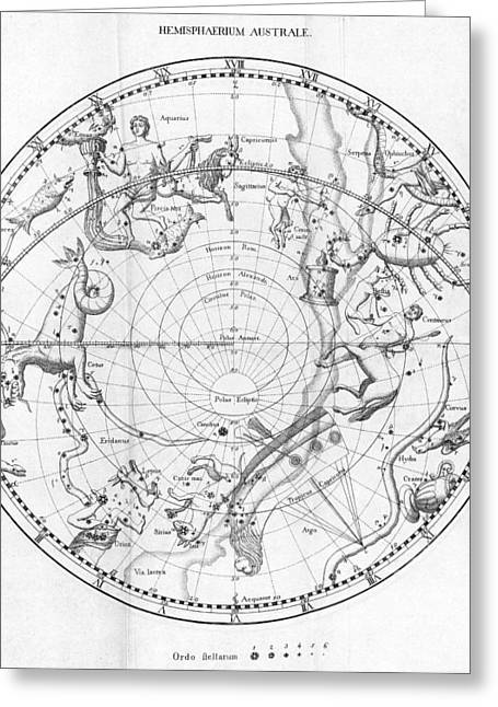 Southern Celestial Map Greeting Card by Science, Industry & Business Librarynew York Public Library