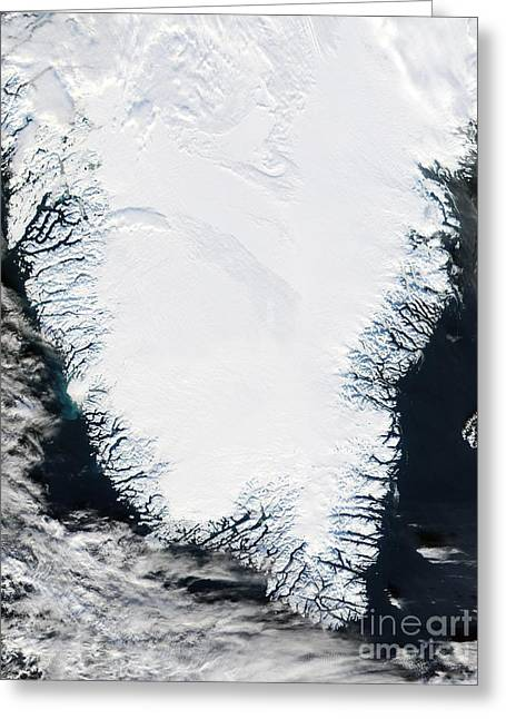 Southern Greenland Greeting Card by NASA / Science Source