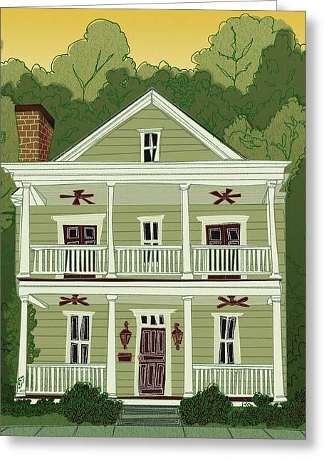 Southern Home 2 Greeting Card