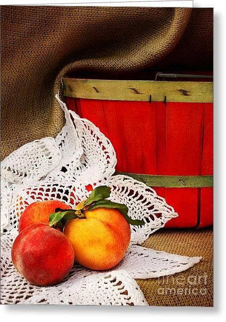 Southern Peaches Greeting Card by Cheryl Davis
