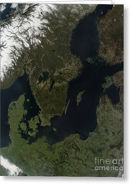 Southern Scandinavia Greeting Card