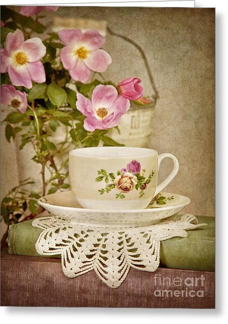 Southern Tea Greeting Card by Cheryl Davis