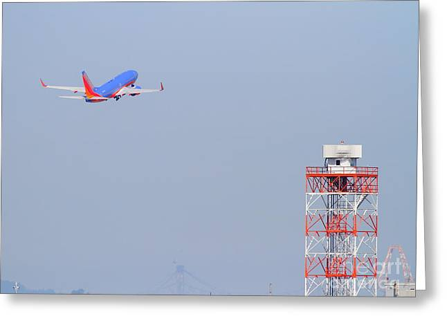 Southwest Airlines Jet Airplane At San Francisco International Airport Sfo . 7d11935 Greeting Card