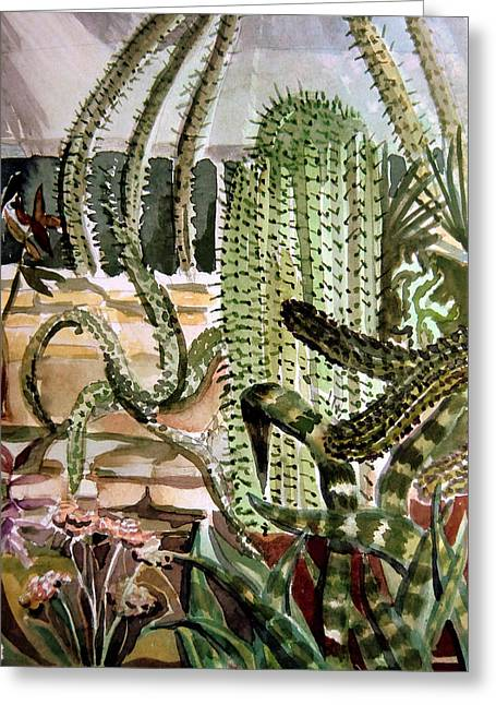Southwest Garden Greeting Card by Mindy Newman