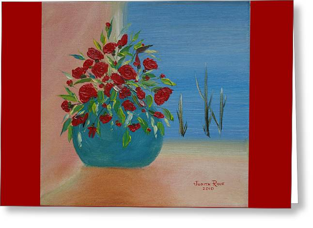 Greeting Card featuring the painting Southwestern 1 by Judith Rhue