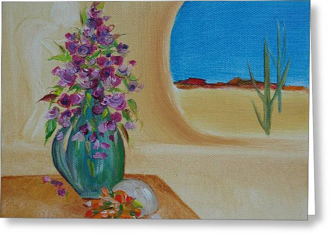 Greeting Card featuring the painting Southwestern 3 by Judith Rhue
