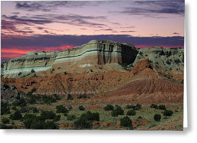 Southwestern Sunset Greeting Card