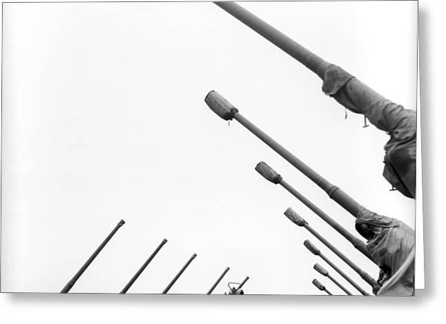 Soviet Guns For Dispersing Hail Clouds Greeting Card