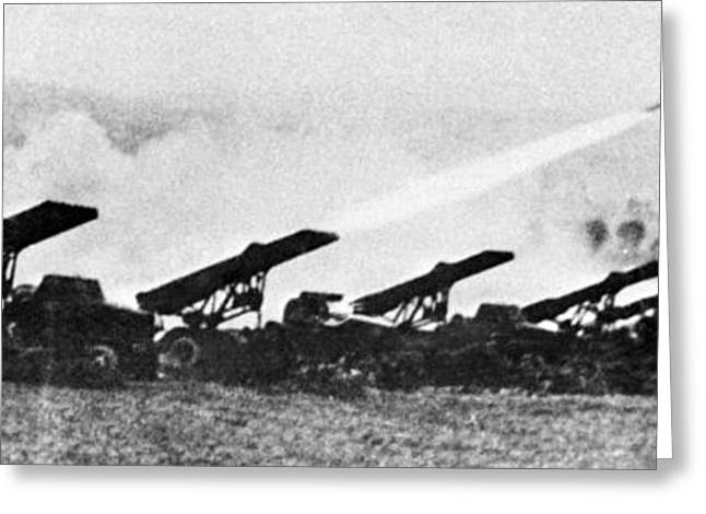 Soviet Katyusha Rocket Launchers, 1942 Greeting Card by Ria Novosti