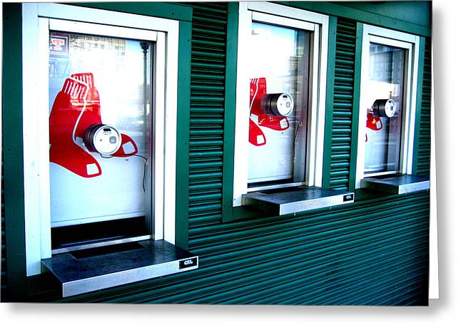 Sox Box Greeting Card by Sheryl Burns