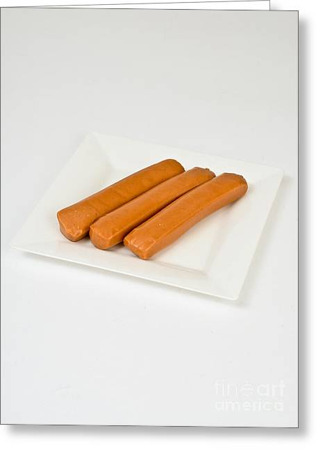 Soy Hot Dogs Greeting Card by Photo Researchers