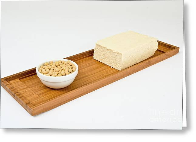 Soy Products Greeting Card by Photo Researchers