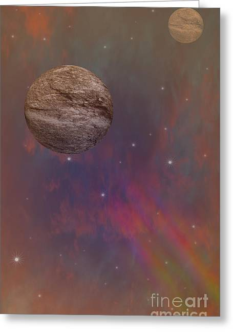 Space Greeting Card by Brian Roscorla