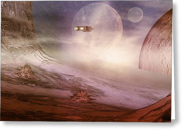 Space Exploration Greeting Card by Carol and Mike Werner