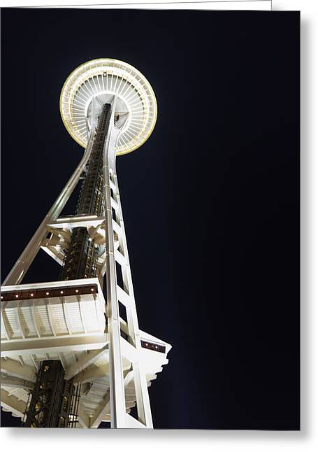 Space Needle Greeting Card by Heidi Smith