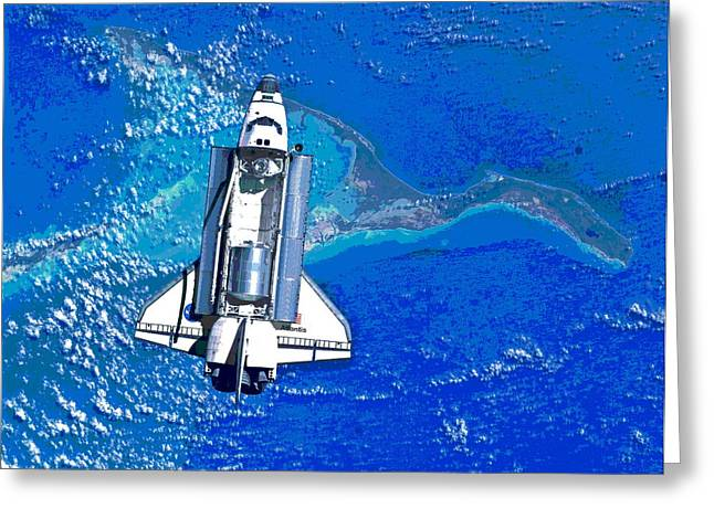 Space Shuttle Atlantis Docking Greeting Card