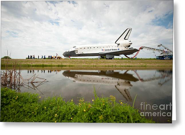 Space Shuttle Atlantis Greeting Card by NASA/Science Source