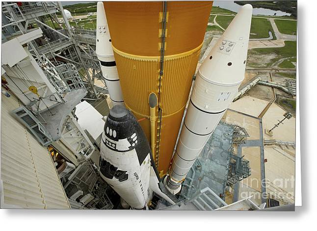 Space Shuttle Atlantis On The Launch Greeting Card by Stocktrek Images