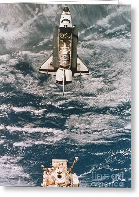 Space Shuttle Atlantis Greeting Card by Science Source
