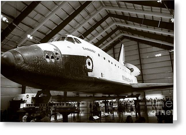 Space Shuttle Endeavour Greeting Card by Nina Prommer