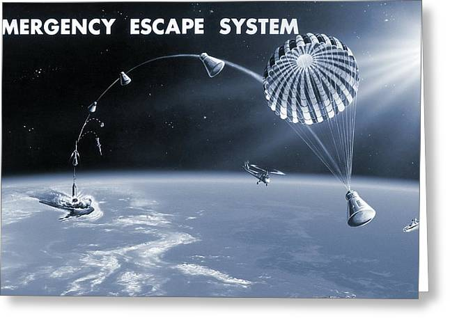 Spacecraft Escape System, Artwork Greeting Card by Nasavrs