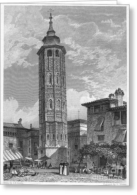 Spain: Saragossa, 1833 Greeting Card by Granger