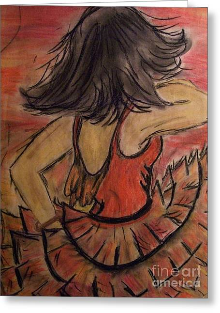 Greeting Card featuring the painting Spanish Dancer by Lori  Lovetere