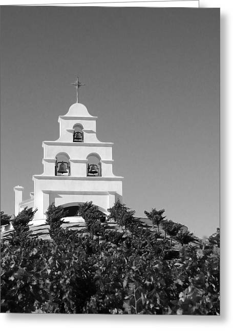 Spanish Mission In The Vineyards I Greeting Card