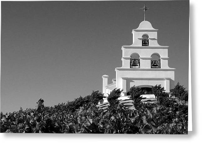 Spanish Mission In The Vineyards II Greeting Card