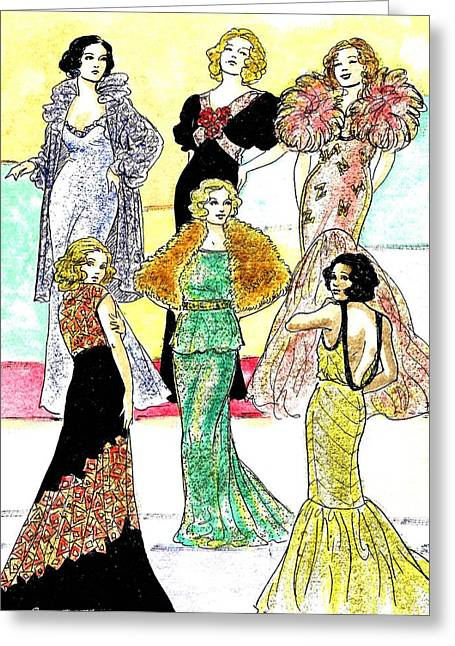 Sparkling Evening Gowns Greeting Card