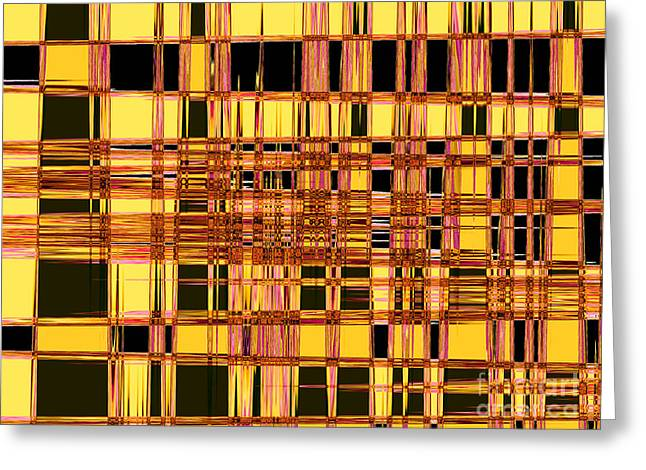 Speak To Me - Abstract Art Greeting Card by Carol Groenen