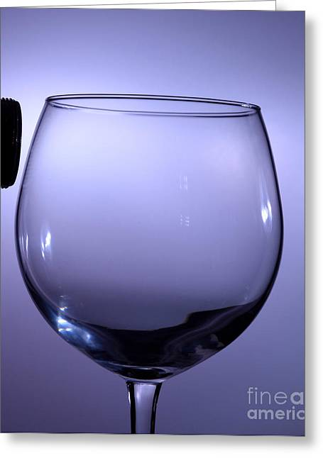 Speaker And A Glass Greeting Card by Ted Kinsman